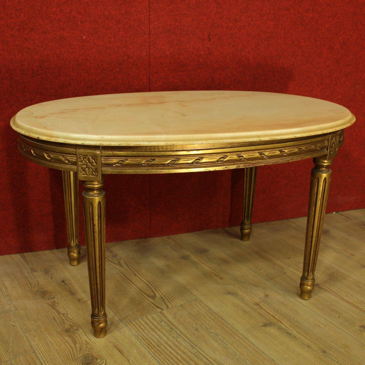 table basse dor e avec dessus en onyx france en vente sur. Black Bedroom Furniture Sets. Home Design Ideas