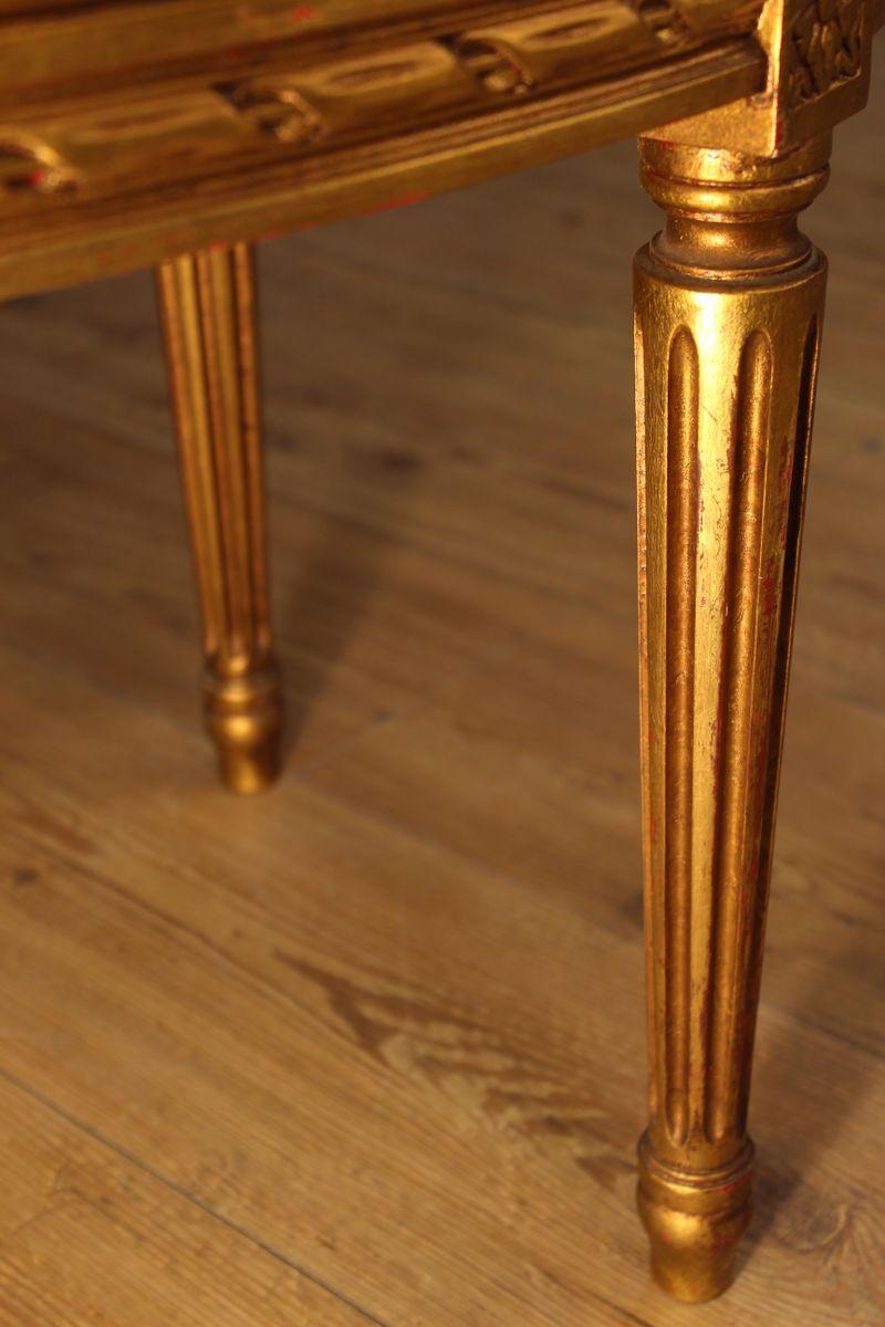 table basse dor e avec dessus en onyx france en vente sur pamono. Black Bedroom Furniture Sets. Home Design Ideas