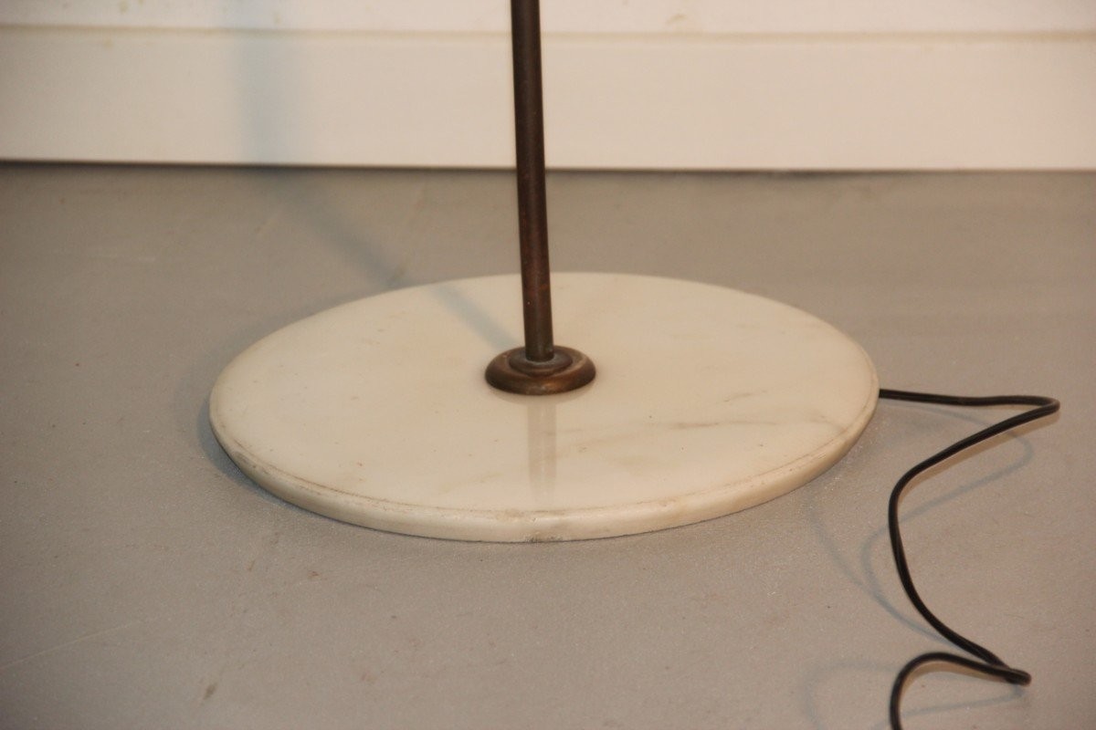 mid century italian floor lamp with marble base 1950s for