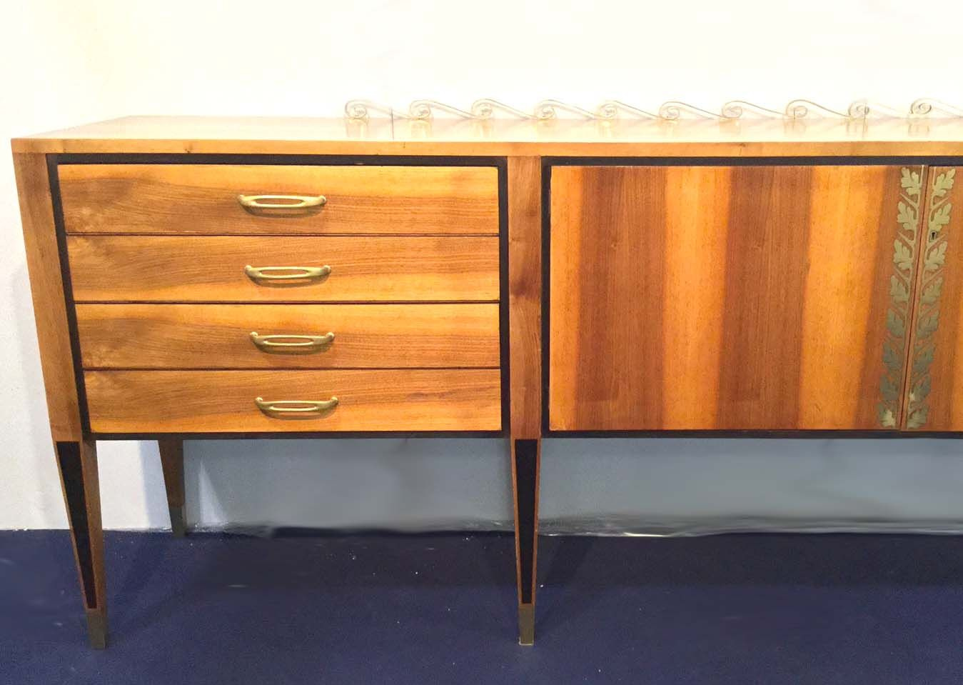 Solid walnut sideboard by paolo buffa for sale at pamono