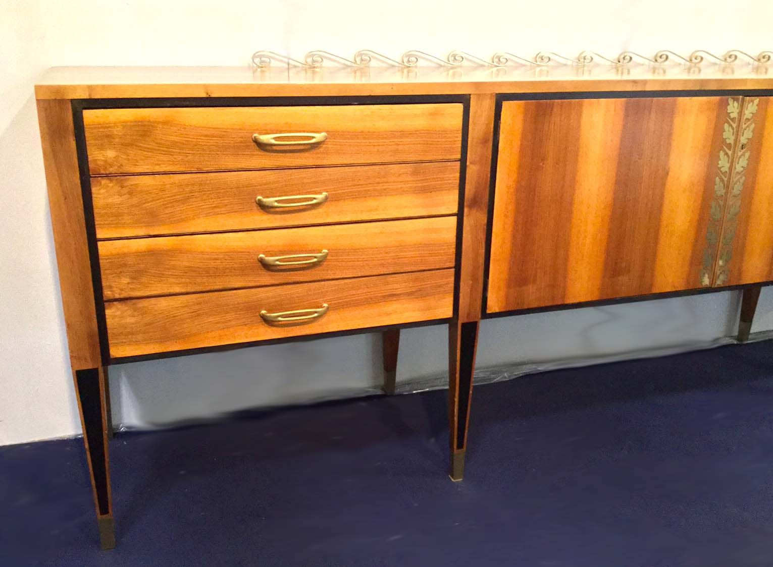 Solid Walnut Buffet ~ Solid walnut sideboard by paolo buffa for sale at pamono