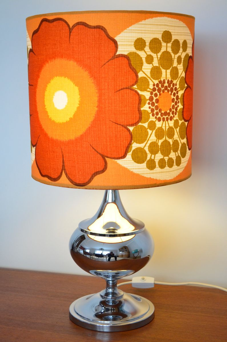 Flower Power Table Lamp 1970s For Sale At Pamono