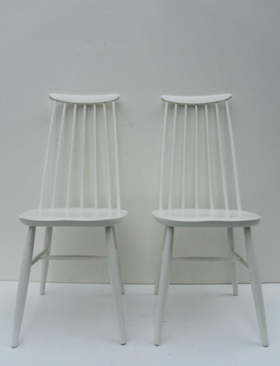 wei e esszimmerst hle 1960er 2er set bei pamono kaufen. Black Bedroom Furniture Sets. Home Design Ideas