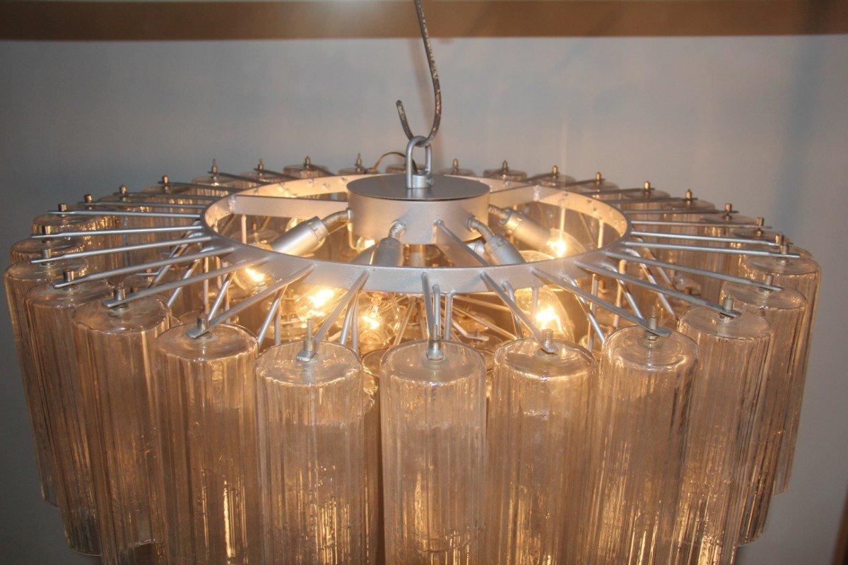 Kronleuchter Mit : Kronleuchter mit tuben aus muranoglas von venini er bei pamono kaufen