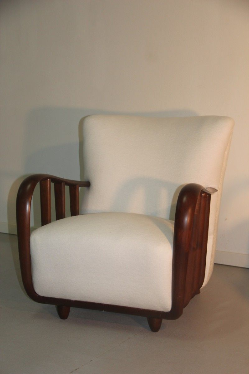 wei e sessel von atelier osvaldo borsani 1940er 2er set. Black Bedroom Furniture Sets. Home Design Ideas