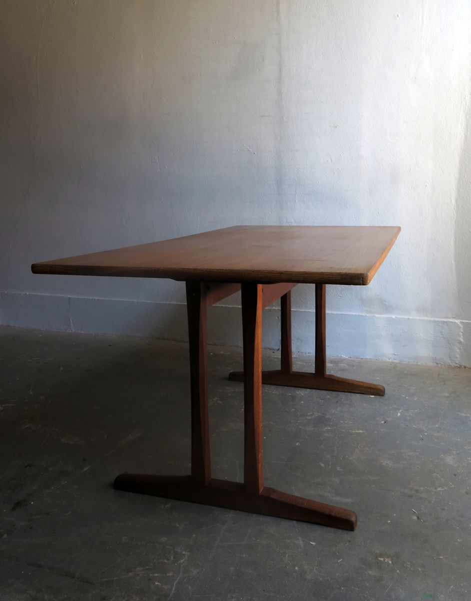 Vintage Oak Dining Table Vintage Oak Dining Table By Borge Mogensen For Fdb 1960s For Sale