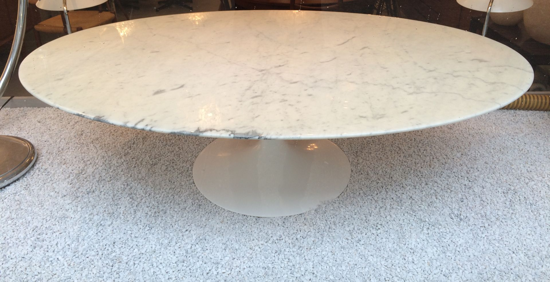 White Marble Tulip Coffee Table By Eero Saarinen For Knoll 1960s For Sale At Pamono