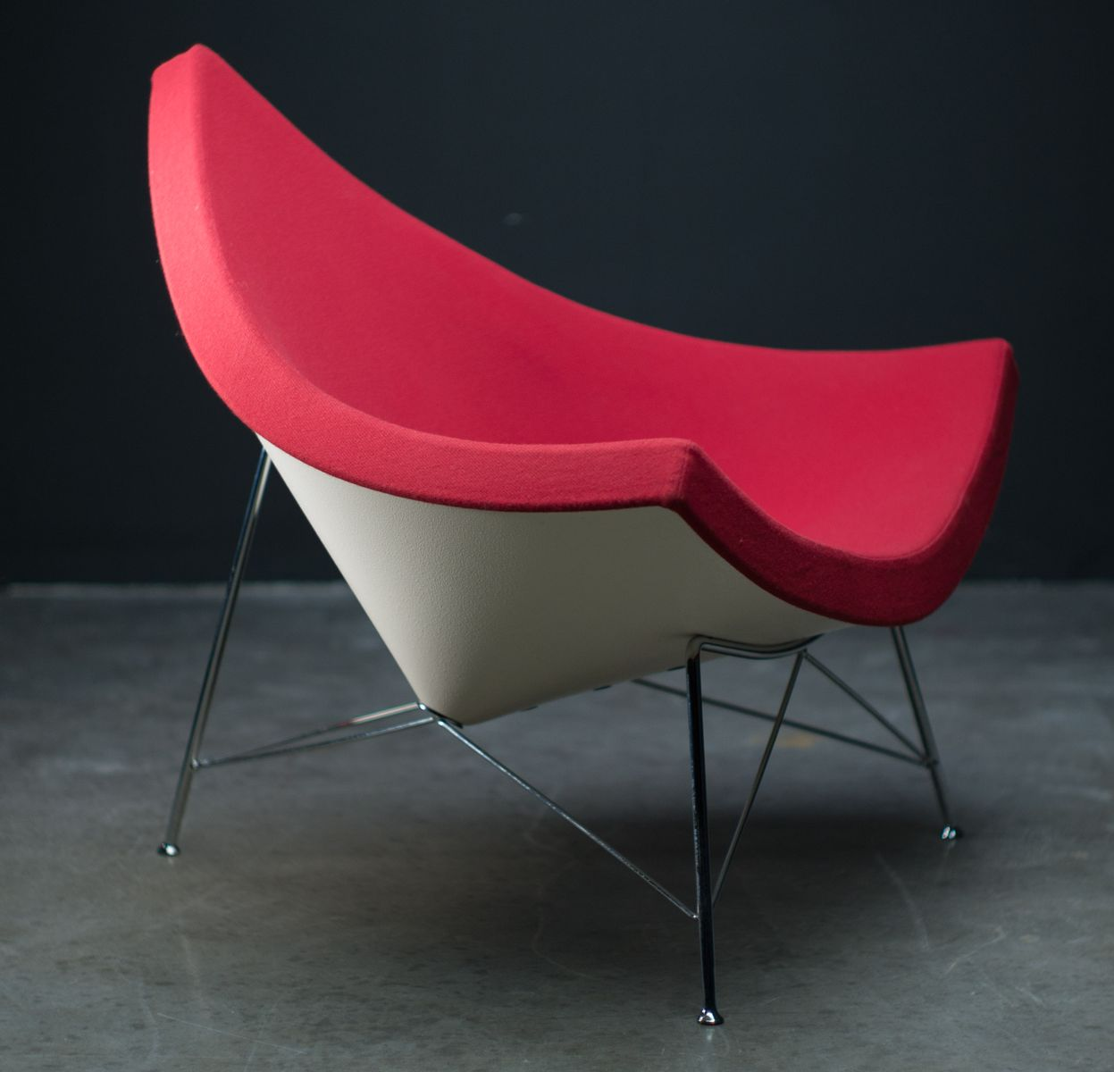 red coconut chair by george nelson for vitra 1950s for sale at pamono. Black Bedroom Furniture Sets. Home Design Ideas