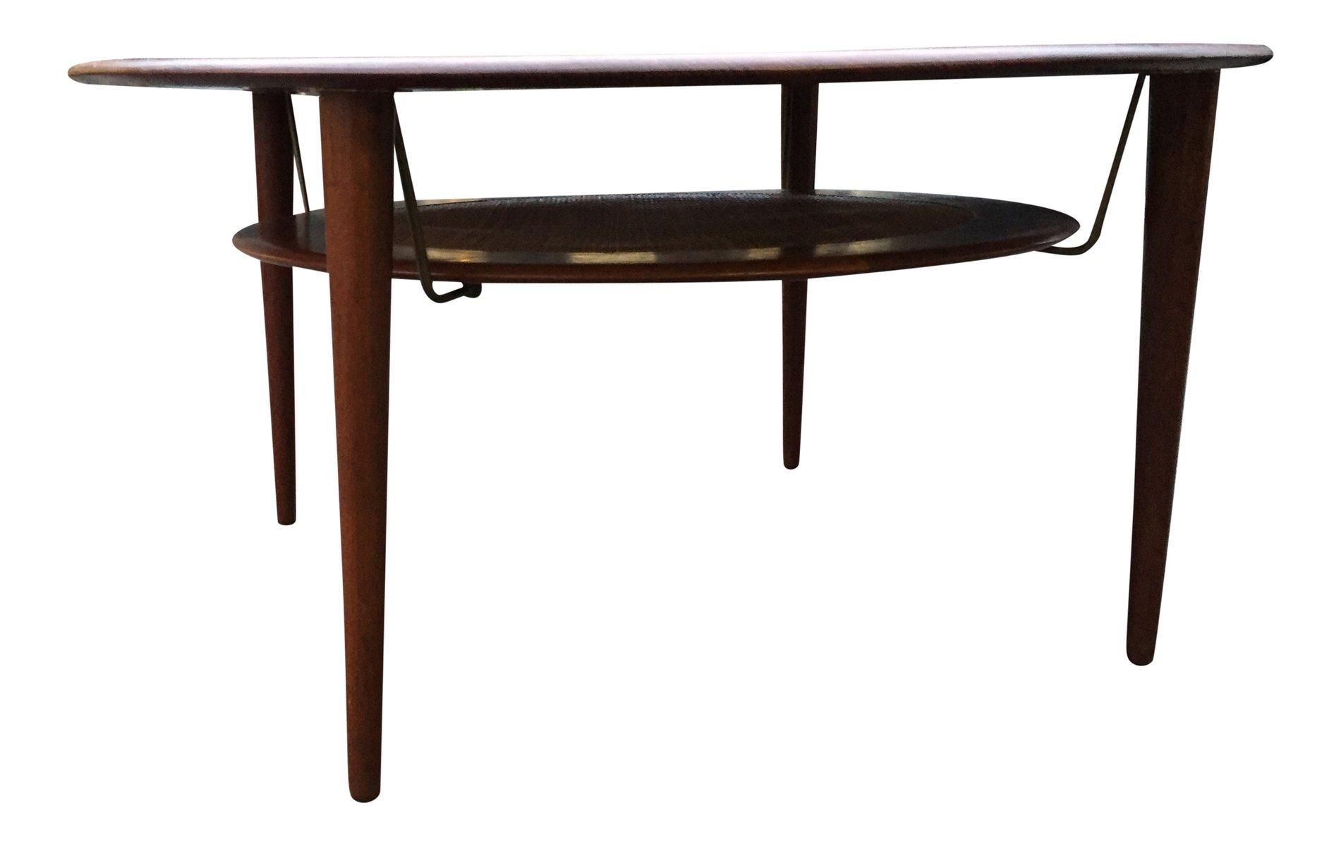 Mid century wheat sheaf coffee table irish antique dealers - Fd515 Teak Coffee Table By Peter Hvidt Orla M Lgaard Nielsen Mid Century