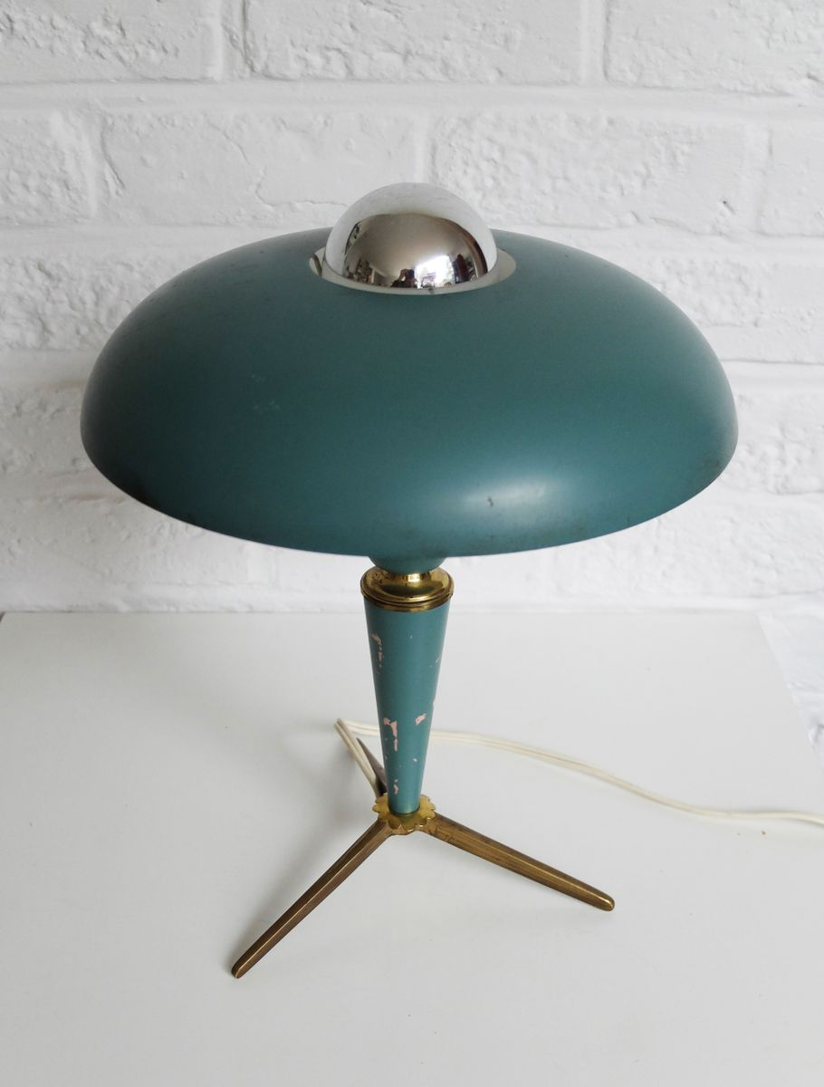 tripod table lamp by louis kalff for philips 1950s