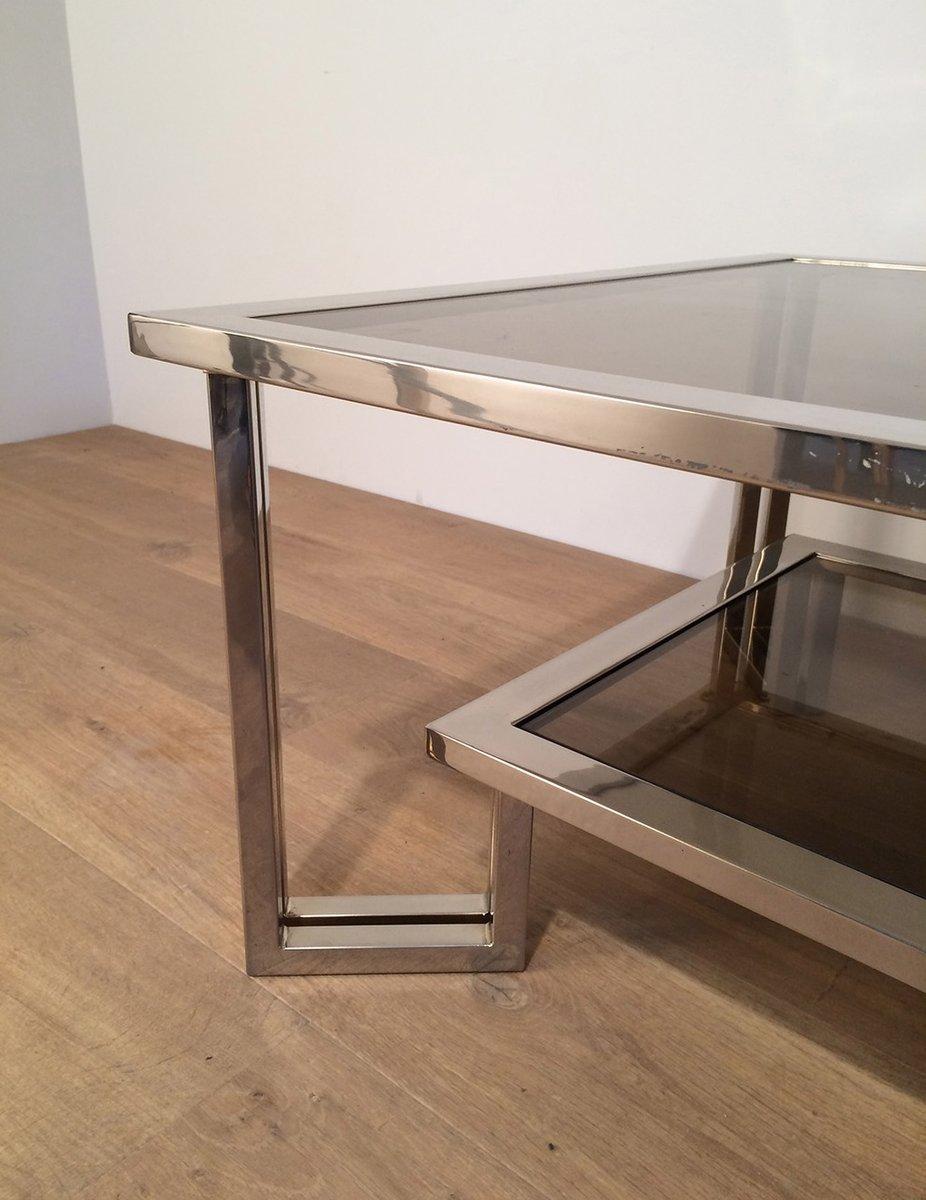 Chrome Smoked Glass Coffee Table For Sale At Pamono
