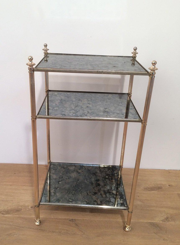 beistelltisch aus antikem glas versilbertem gestell bei pamono kaufen. Black Bedroom Furniture Sets. Home Design Ideas