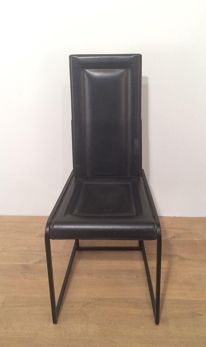 set von 4 schwarzen esszimmerst hlen m belideen. Black Bedroom Furniture Sets. Home Design Ideas
