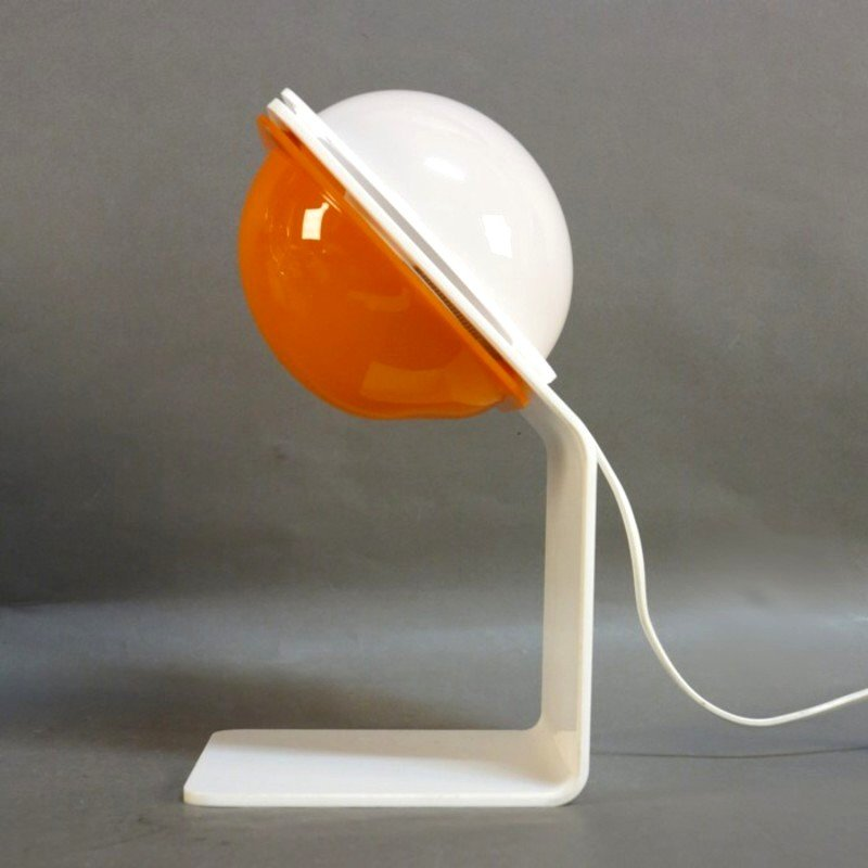 Orange Table Lamp By Harvey Guzzini 1970s For Sale At Pamono