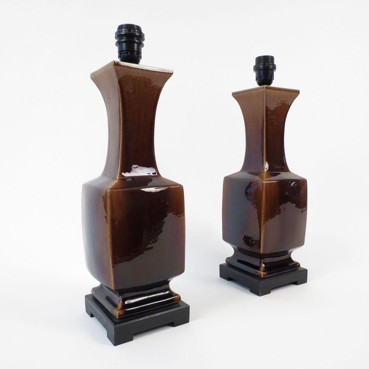 ceramic lamps set of 2 2. Black Bedroom Furniture Sets. Home Design Ideas
