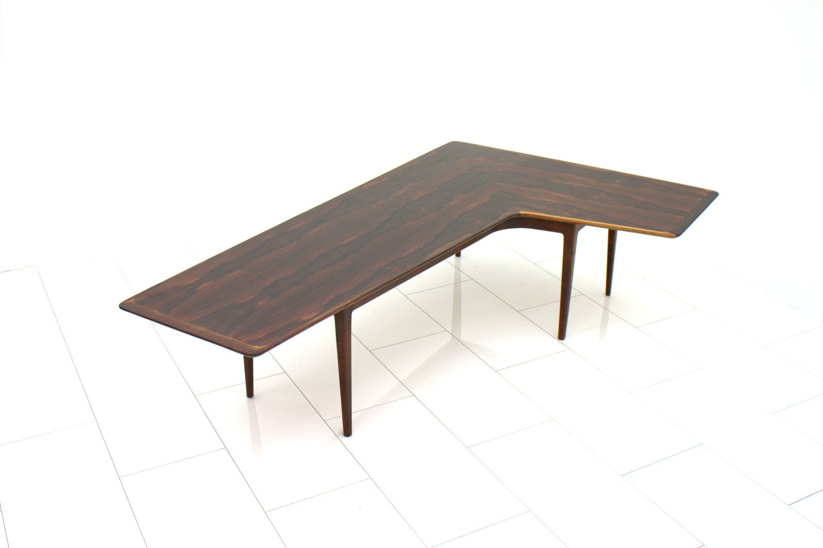 l shaped rosewood coffee table 1960s for sale at pamono. Black Bedroom Furniture Sets. Home Design Ideas