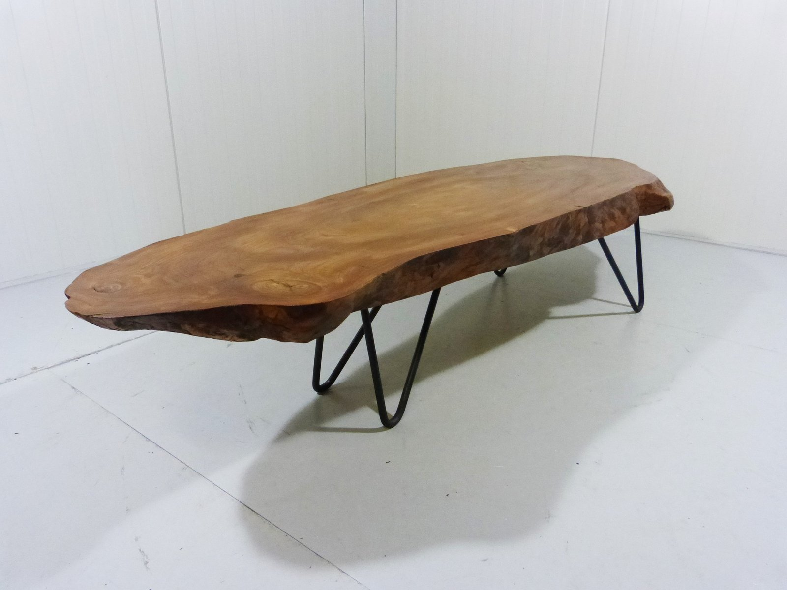 Vintage Tree Trunk Coffee Table With Hairpin Legs For Sale At Pamono