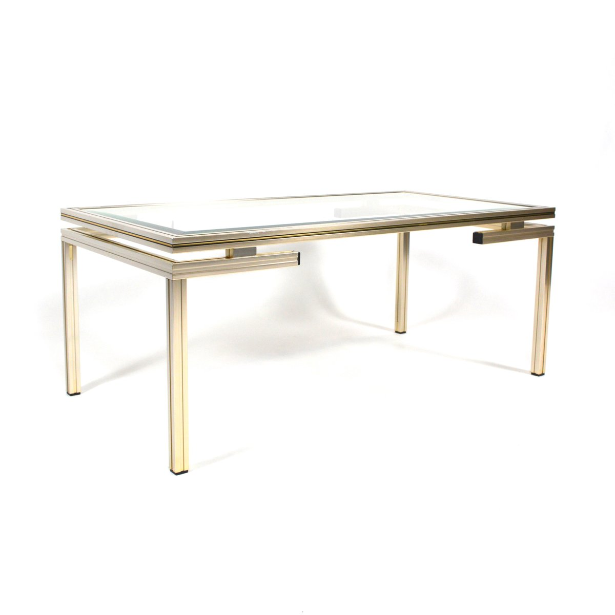 French Silver And Gold Coffee Table By Pierre Vandel 1970s For Sale At Pamono