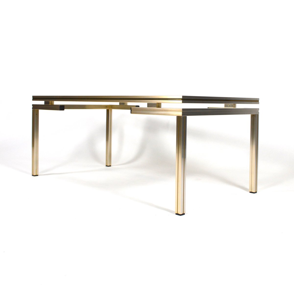 French Gold Coffee Table: French Silver And Gold Coffee Table By Pierre Vandel