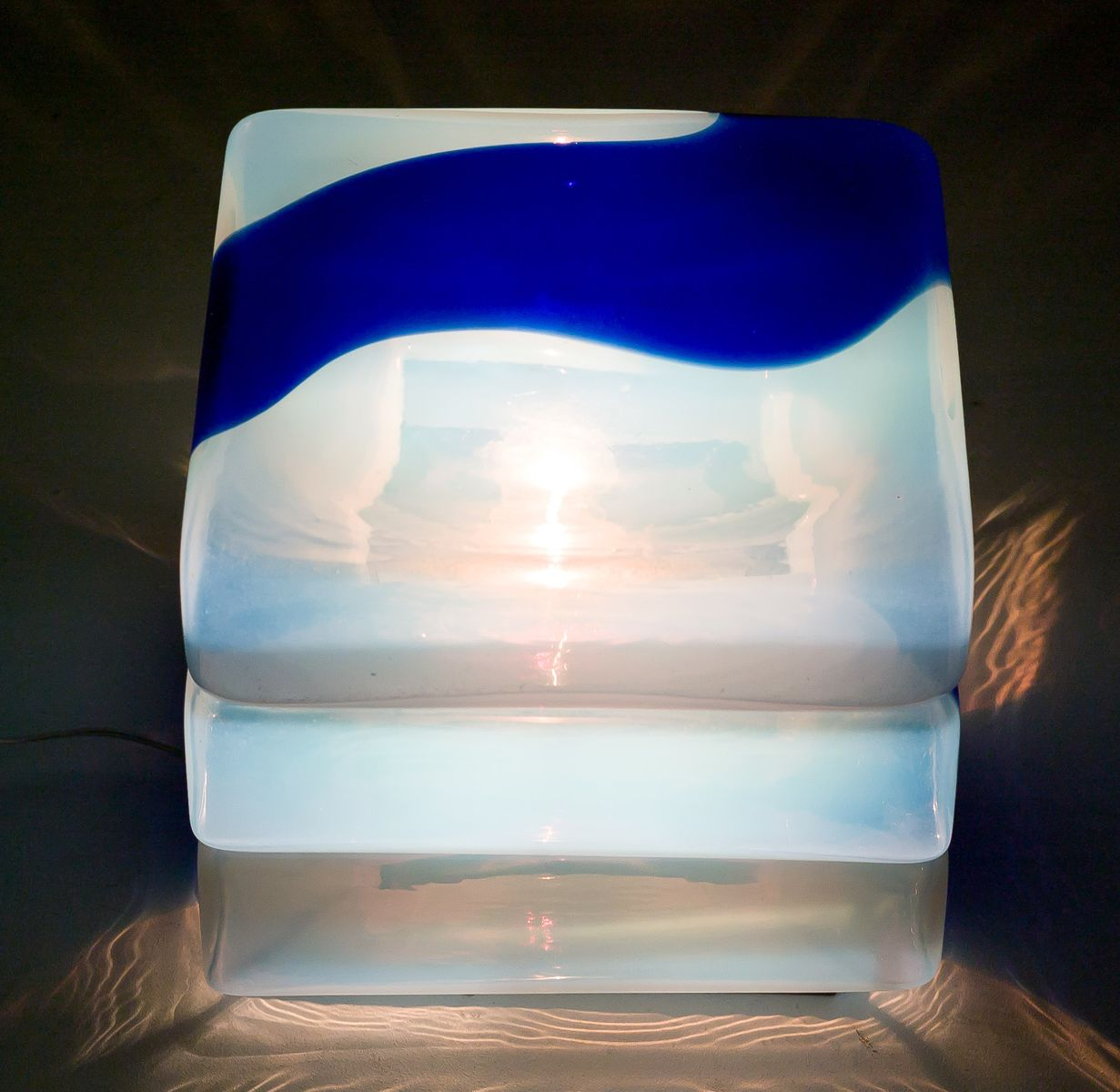 lampe de bureau en verre de murano par carlo nason pour. Black Bedroom Furniture Sets. Home Design Ideas