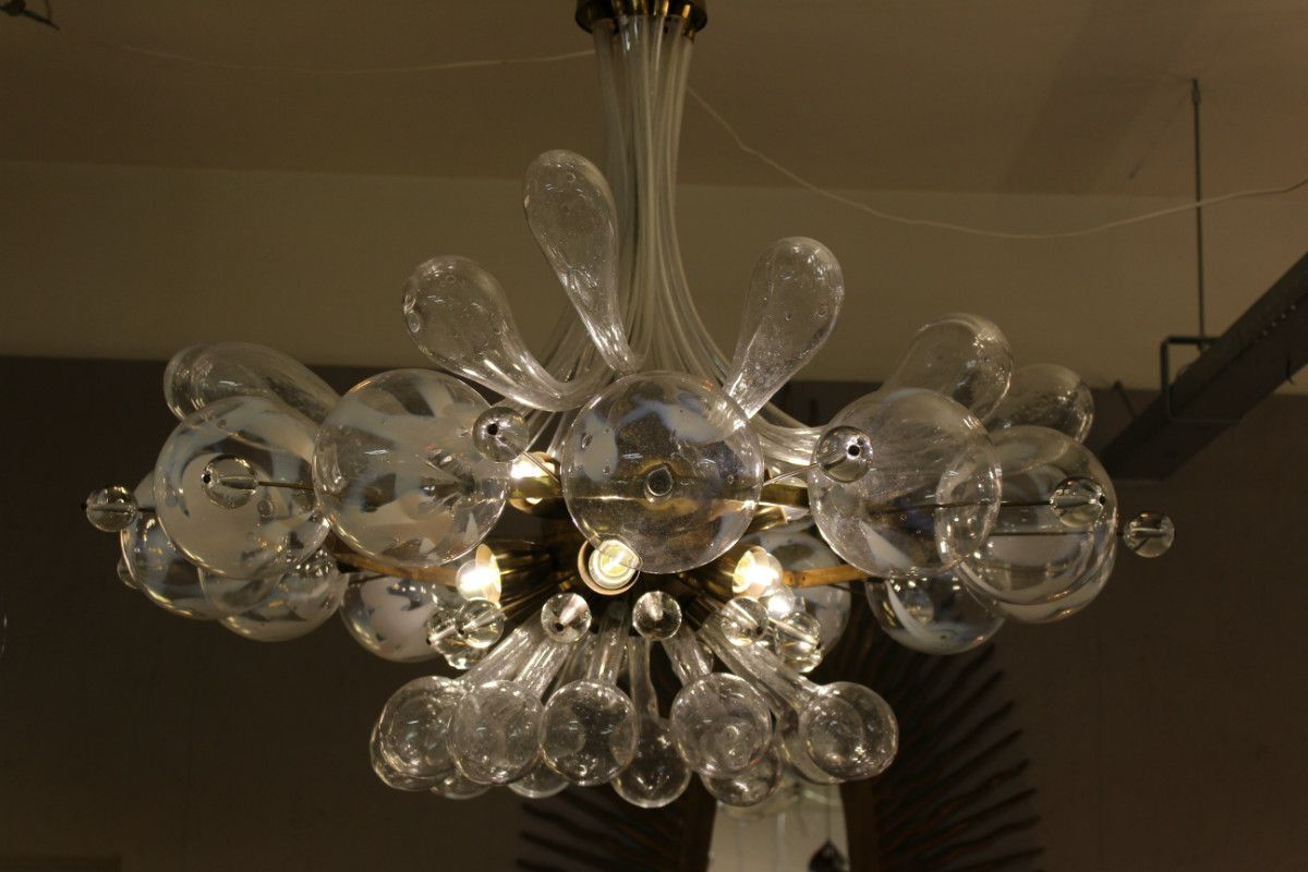 Czech Blown Glass Ceiling Light 1940s For Sale At Pamono
