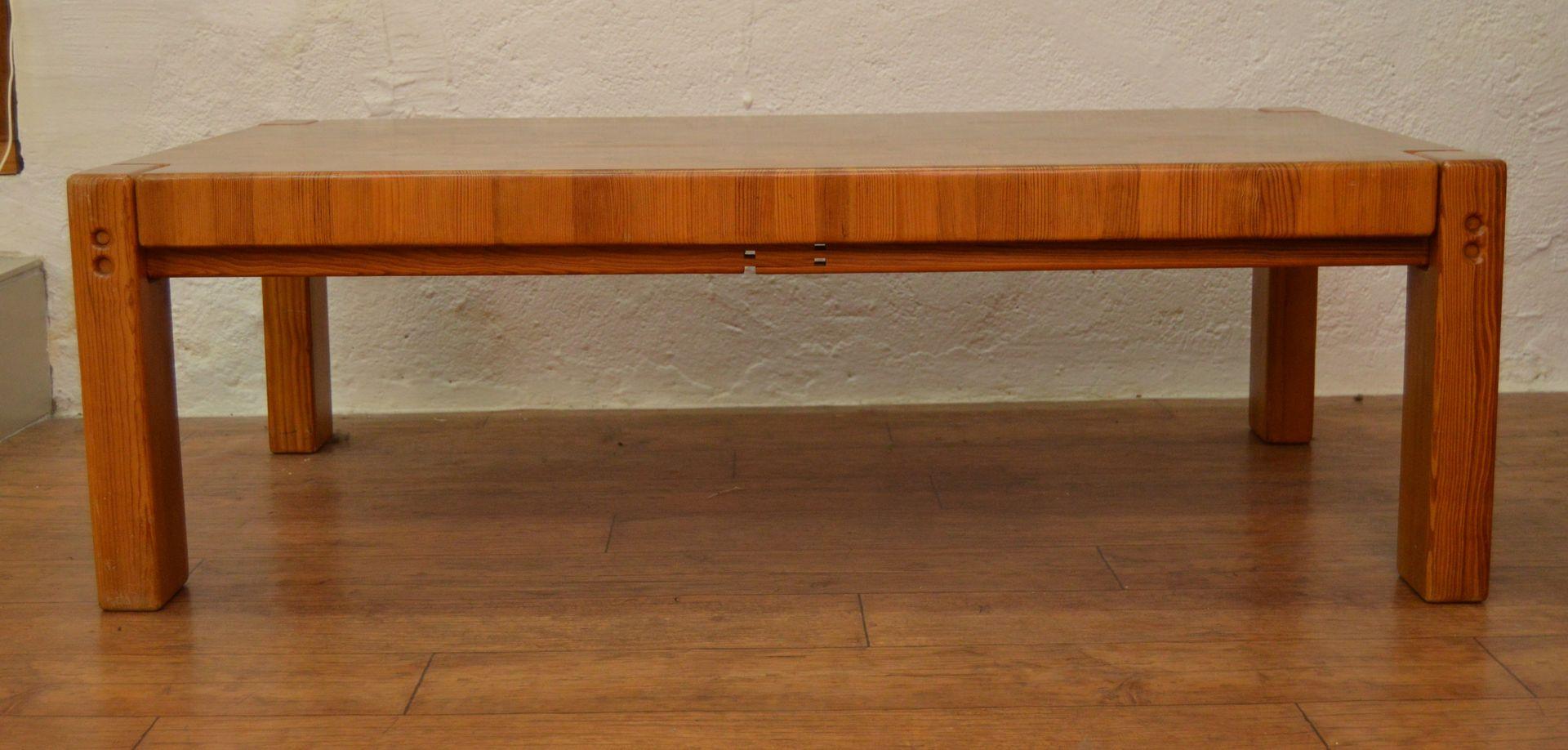 Danish Pine Coffee Table 1970s For Sale At Pamono