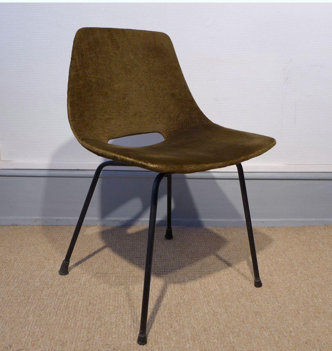 chaises tonneau par pierre guariche pour steiner set de 4 en vente sur pamono. Black Bedroom Furniture Sets. Home Design Ideas
