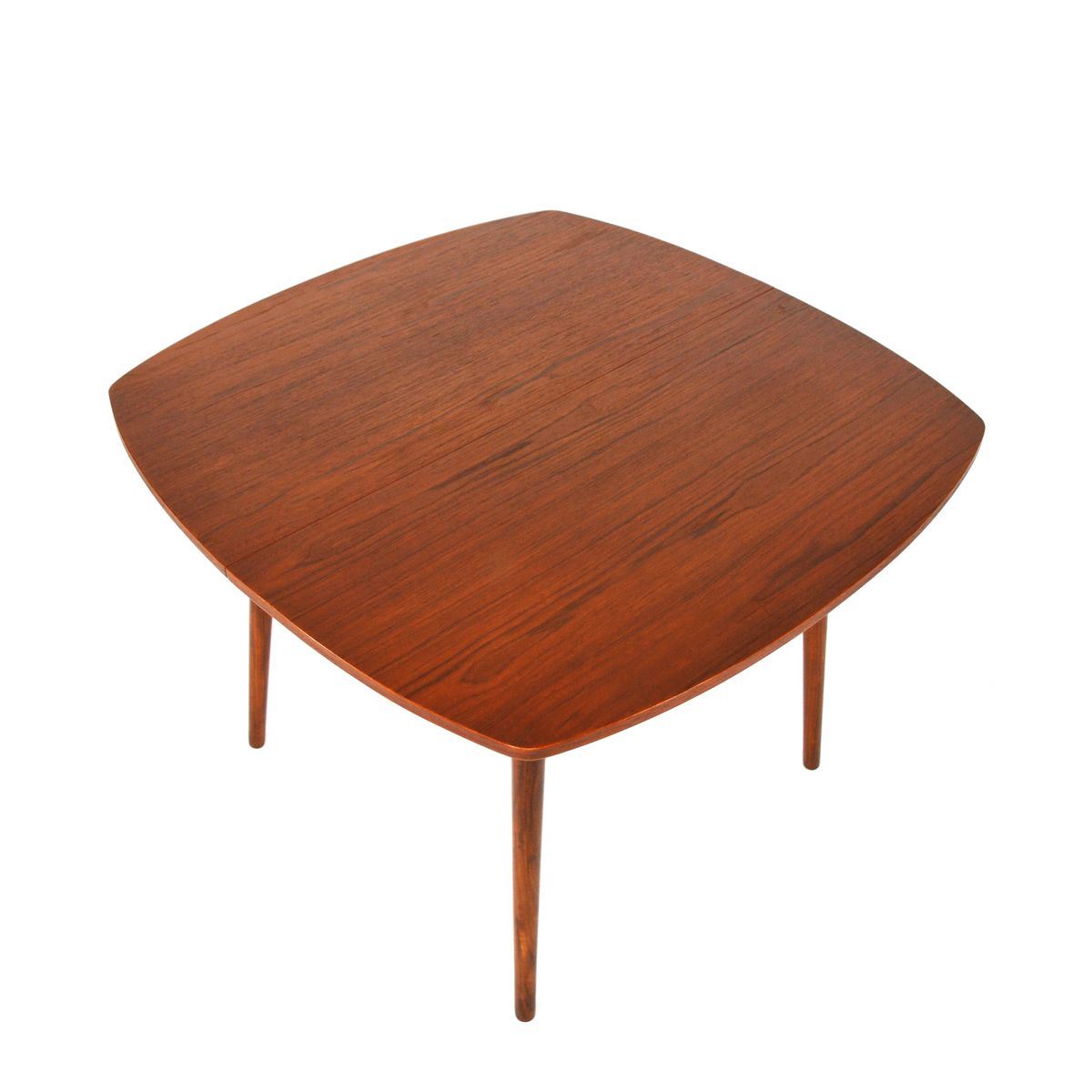 Table de salle manger extensible mid century en teck en for Table de salle a manger 2 main