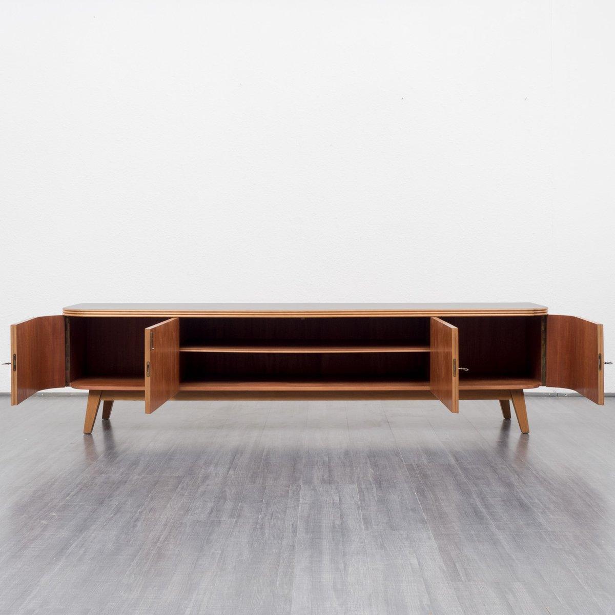 vintage walnut lowboard 1950s for sale at pamono. Black Bedroom Furniture Sets. Home Design Ideas