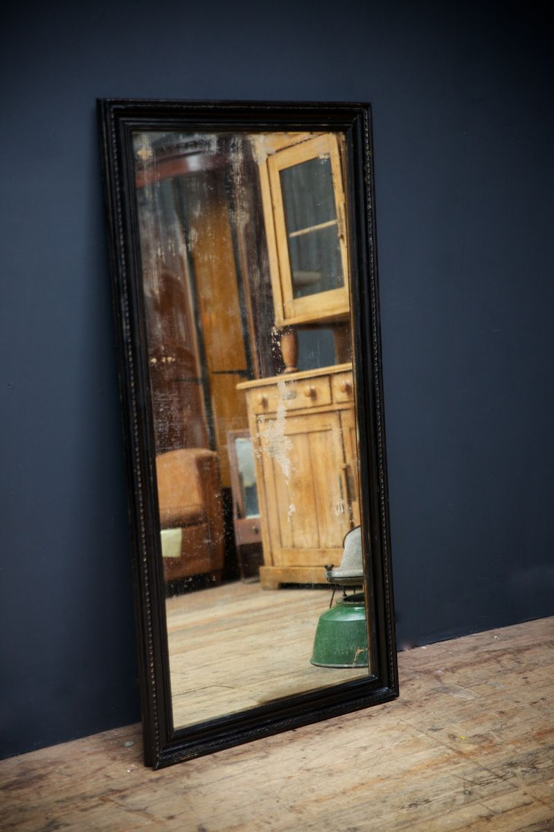vintage spiegel mit holzrahmen 1920 bei pamono kaufen. Black Bedroom Furniture Sets. Home Design Ideas