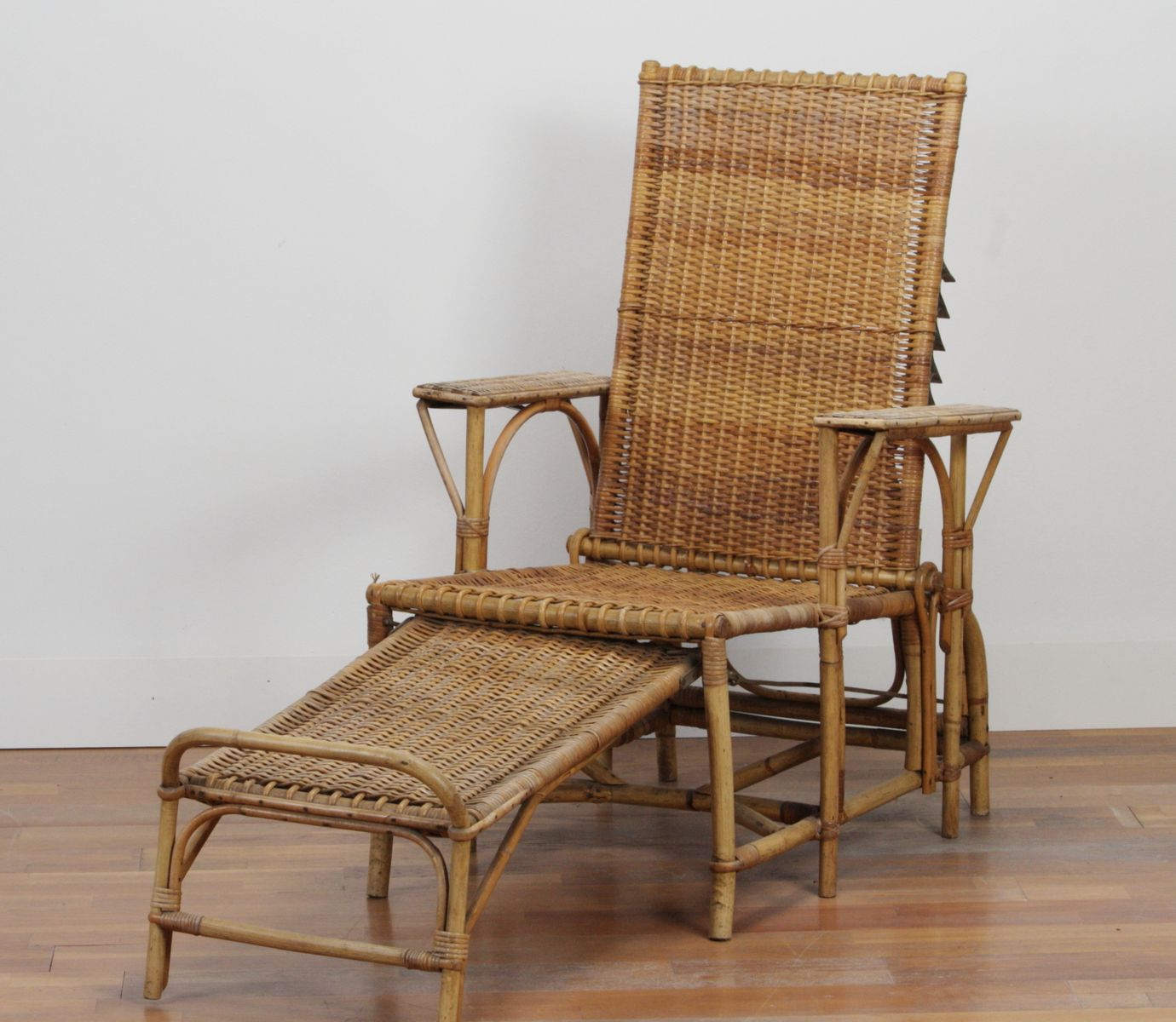 Rattan Lounge Chair by Erich Diekmann 1930 for sale at Pamono