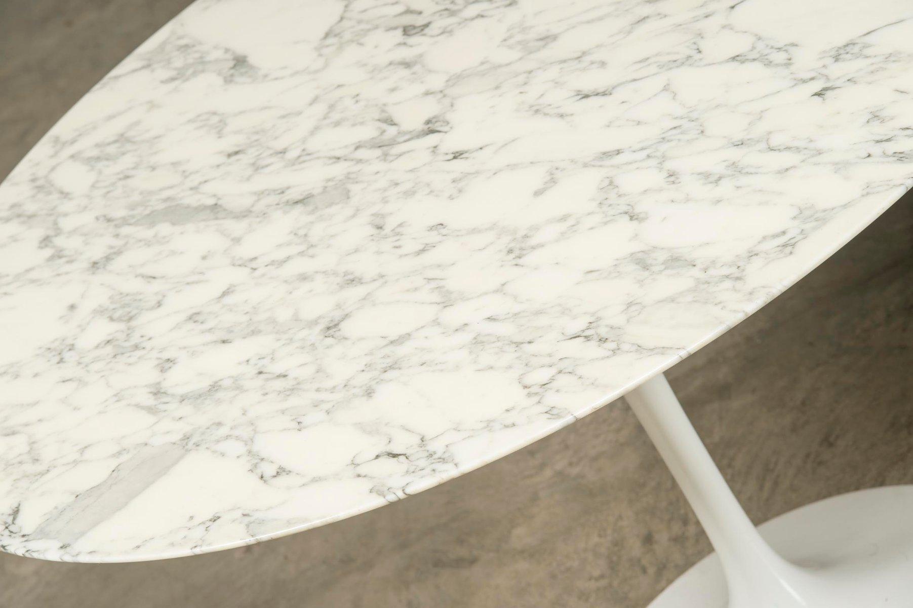 Mid Century Marble Tulip Dining Table By Eero Saarinen For