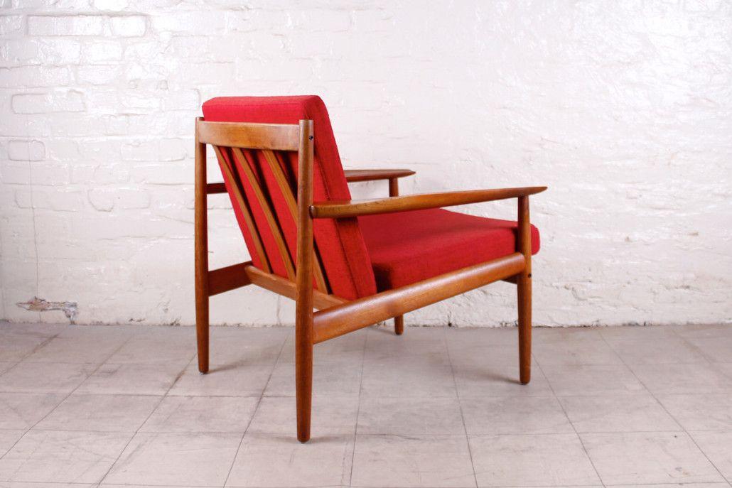 vintage danish teak armchair by arne vodder for glostrup for sale at