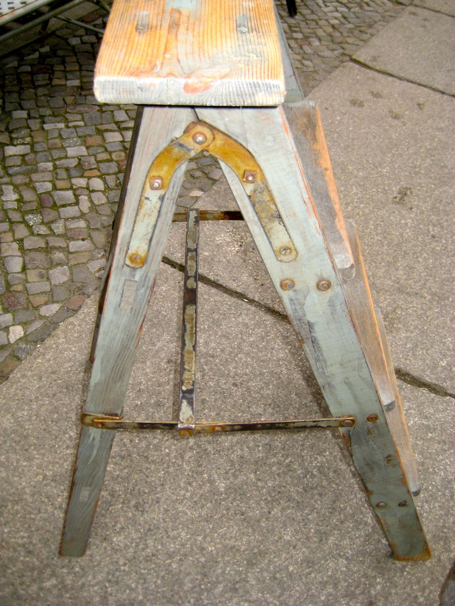 German Wooden Step Ladder 1940s for sale at Pamono