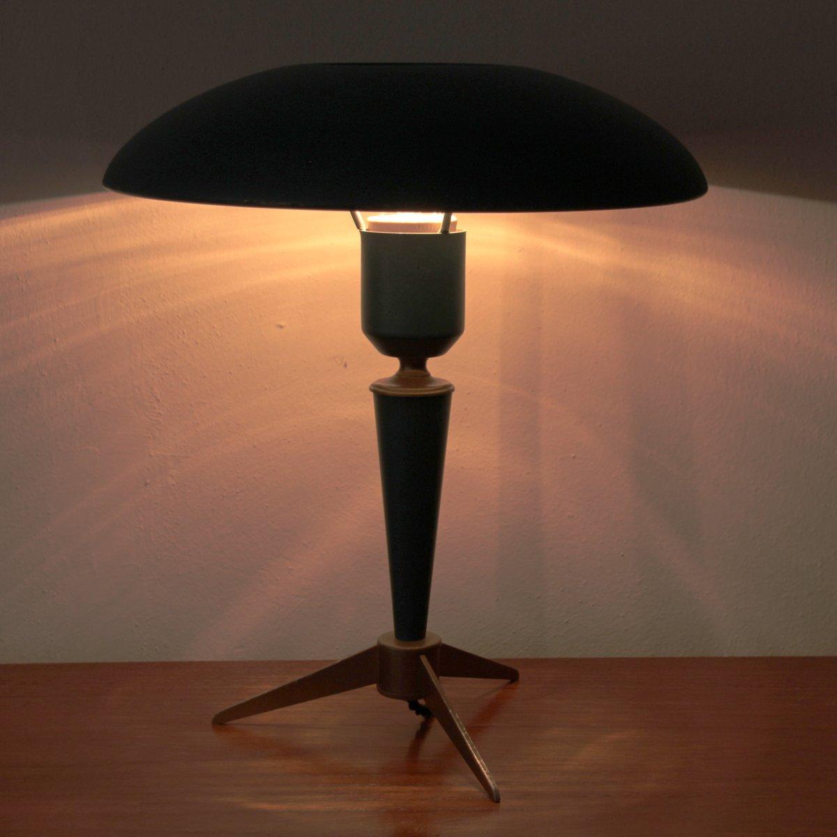 lampe de bureau vintage avec tr pied par louis kalff pour philips en vente sur pamono. Black Bedroom Furniture Sets. Home Design Ideas
