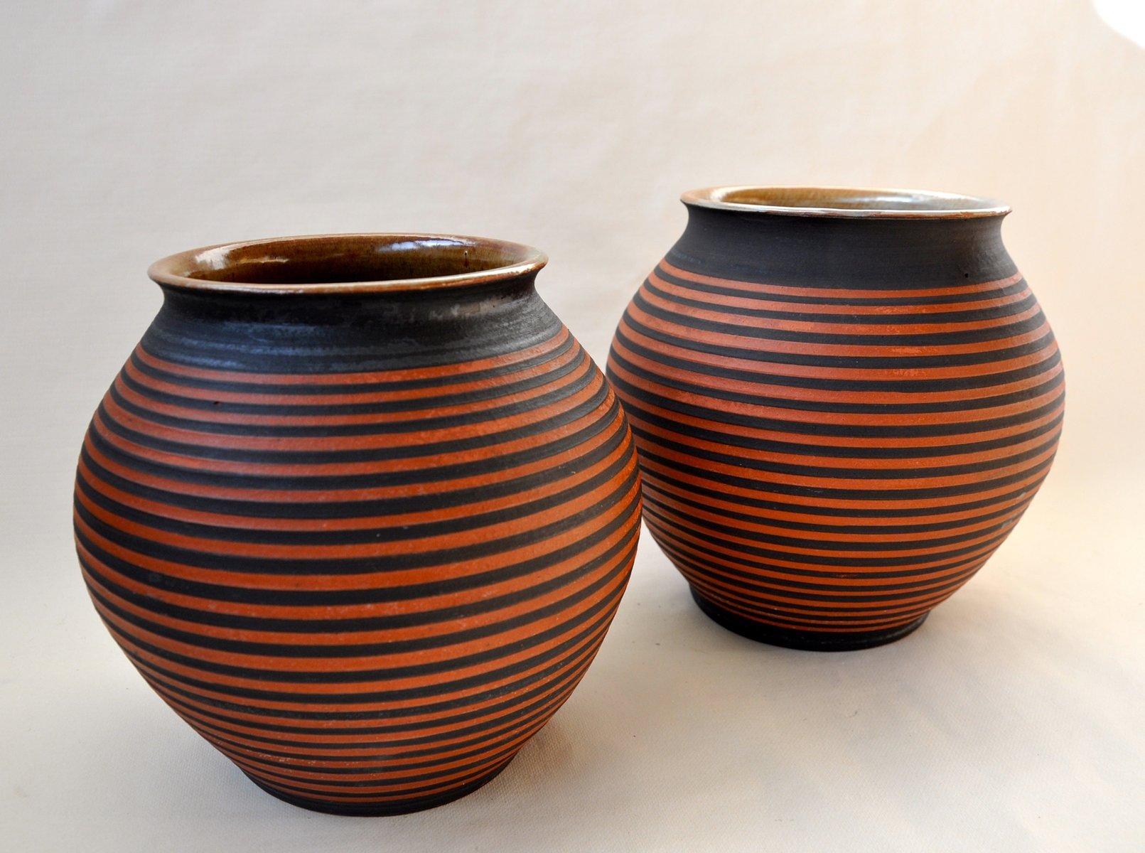 bauhaus vasen von kurt feuerriegel 2er set bei pamono kaufen. Black Bedroom Furniture Sets. Home Design Ideas