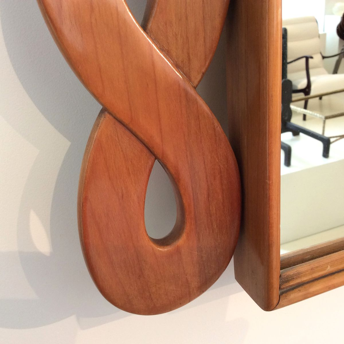 italienischer holz spiegel 1950er bei pamono kaufen. Black Bedroom Furniture Sets. Home Design Ideas