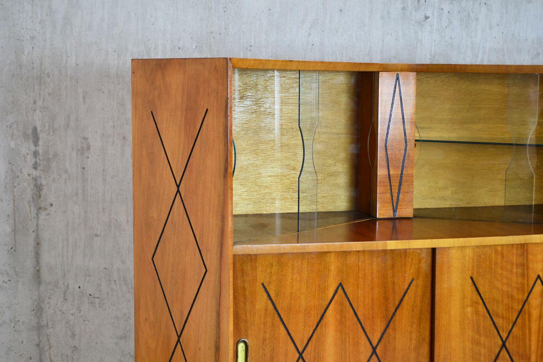 kleines sideboard mit vitrine 1960er bei pamono kaufen. Black Bedroom Furniture Sets. Home Design Ideas