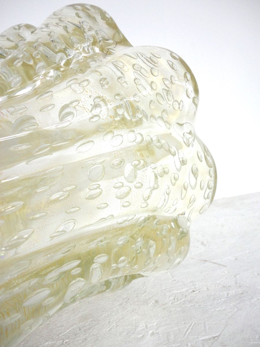 gro e mundgeblasene glasvase von barovier toso 1950er bei pamono kaufen. Black Bedroom Furniture Sets. Home Design Ideas