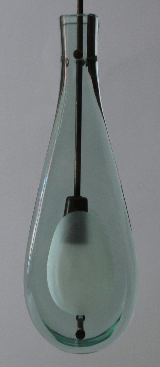 lampada in cristallo e ottone di max ingrand per fontana arte italia anni 39 60 in vendita su pamono. Black Bedroom Furniture Sets. Home Design Ideas