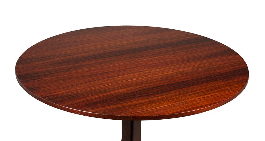 runder vintage tisch aus palisander von gianfranco frattini f r bernini bei pamono kaufen. Black Bedroom Furniture Sets. Home Design Ideas