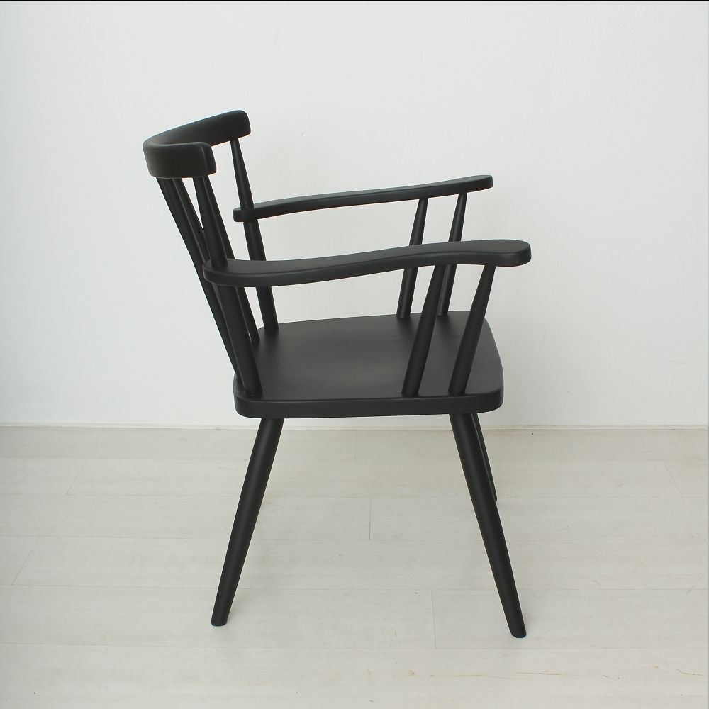 Black Spindle Back Armchair 1930s For Sale At Pamono