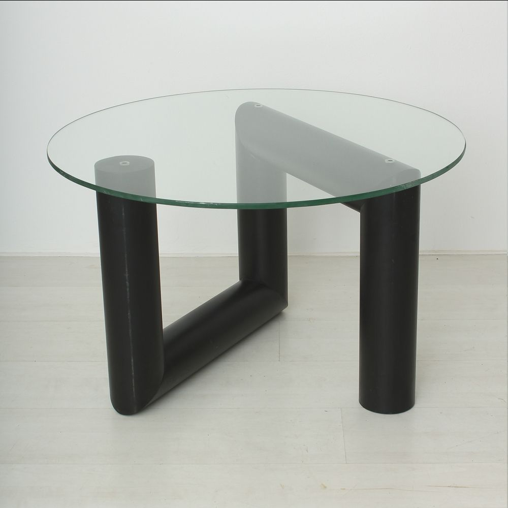 Sculptural Vintage Metal And Glass Coffee Table 1970s For Sale At Pamono