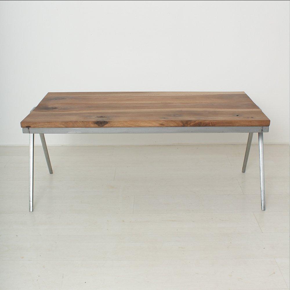 Table basse vintage en noyer massif en vente sur pamono - Table basse en solde ...
