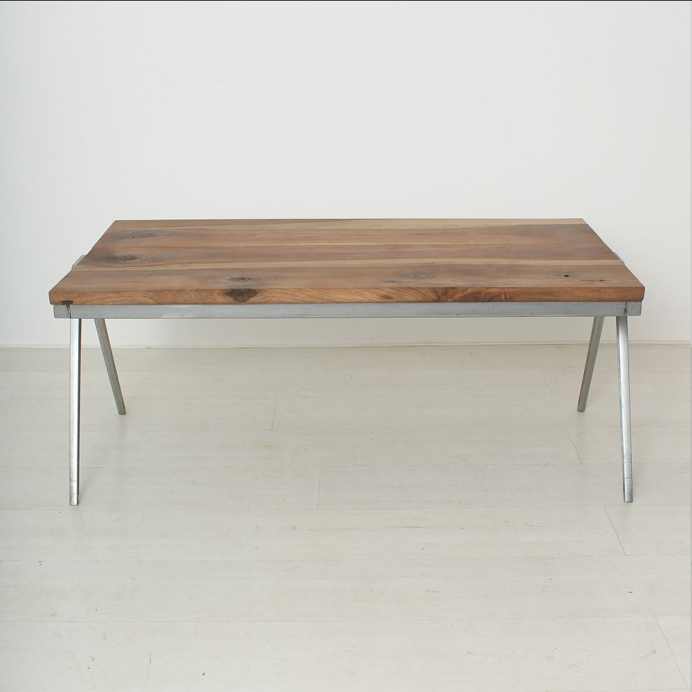 Vintage solid walnut coffee table for sale at pamono geotapseo Gallery