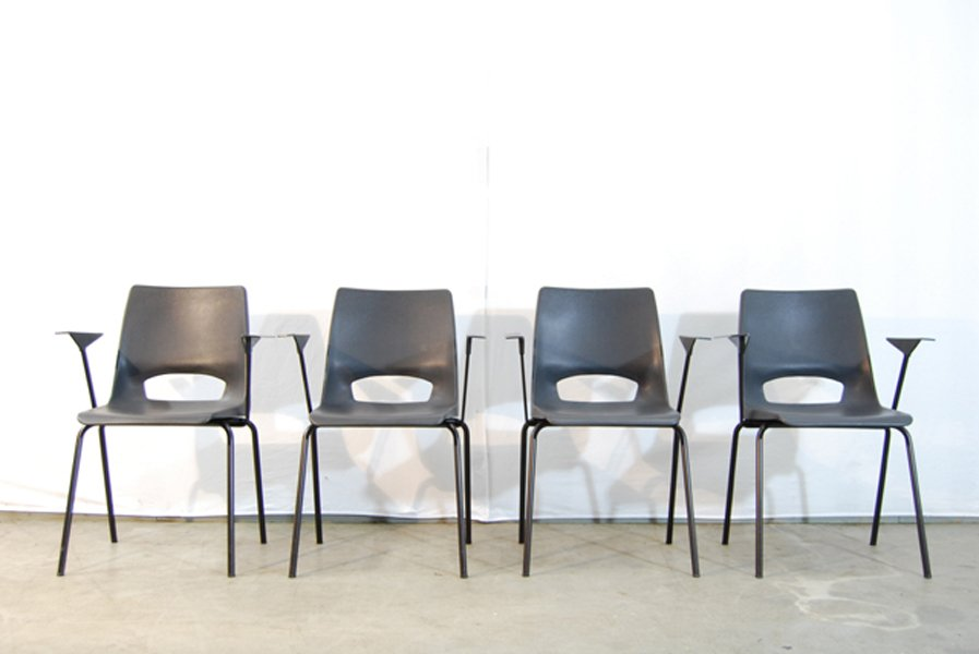 industrial dining chairs by philippus potter for ahrend de cirkel set of 4 for sale at pamono