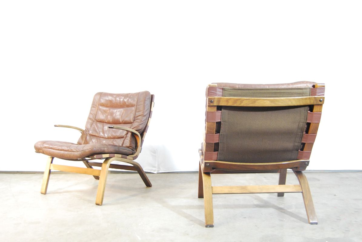 Danish Bentwood Lounge Armchair From Farstrup, 1970s