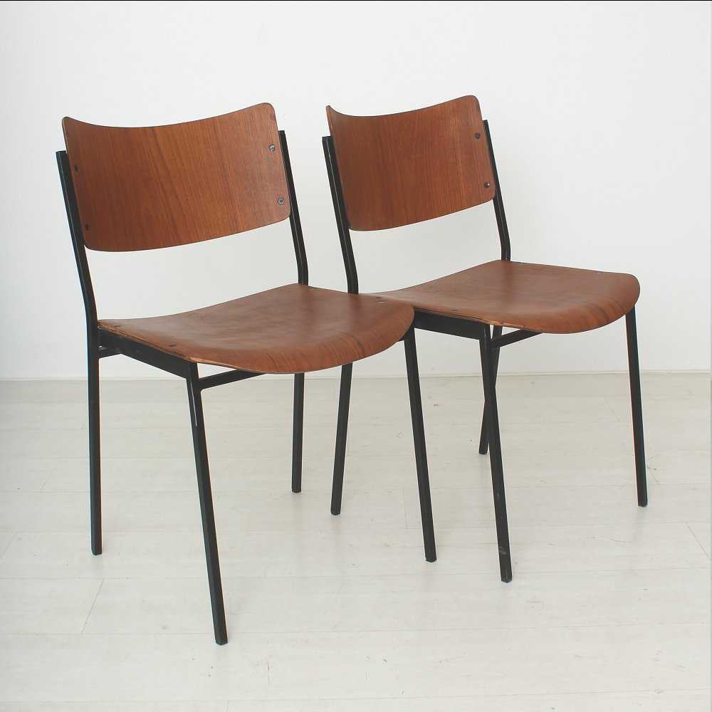 Teak Dining Chairs 1960s Set Of 2 For Sale At Pamono