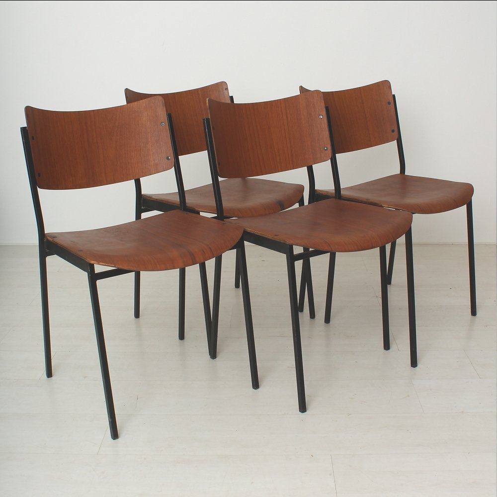 Teak dining chairs s set of for sale at pamono