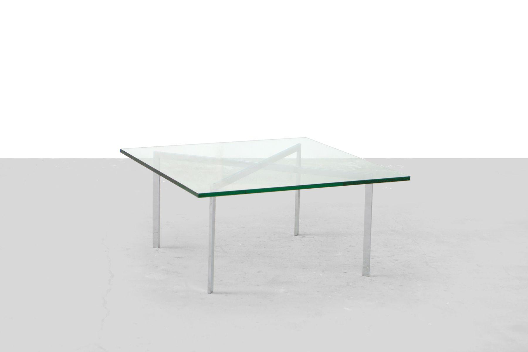 Table basse en verre knoll - Table italienne en verre ...